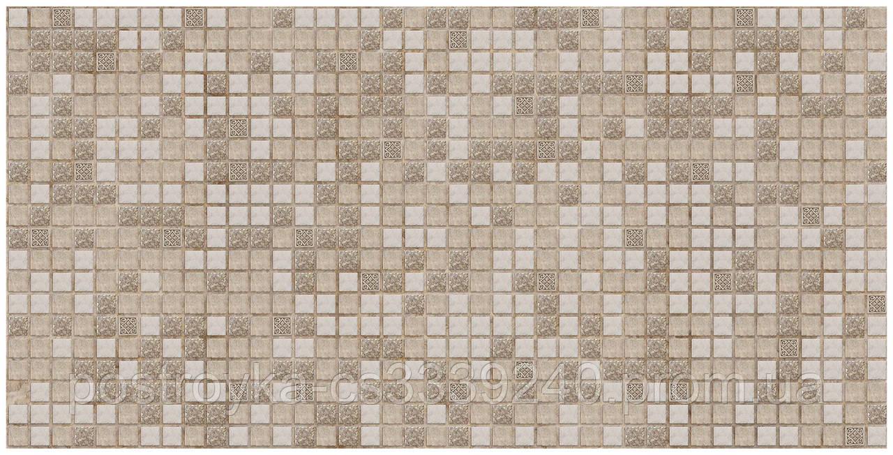 Декоративные Панели ПВХ Мозаика коричневая с узорами