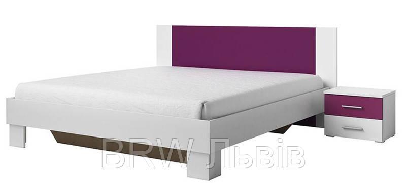 VERA 52 ліжко 180 з тумбочками HELVETIA