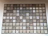 Декоративные Панели ПВХ Мозаика коричневая с узорами, фото 2