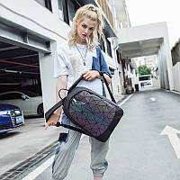 Стильный и модный рюкзак  с перегородкой, два открытых кармана и прорезной на замке