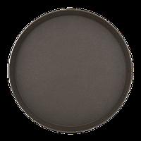 Поднос для официанта. Коричневый, антислип 35 см, фото 1
