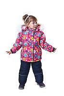 Зимний костюм (Куртка и полукомбинезон) для девочки 98-116 рост.