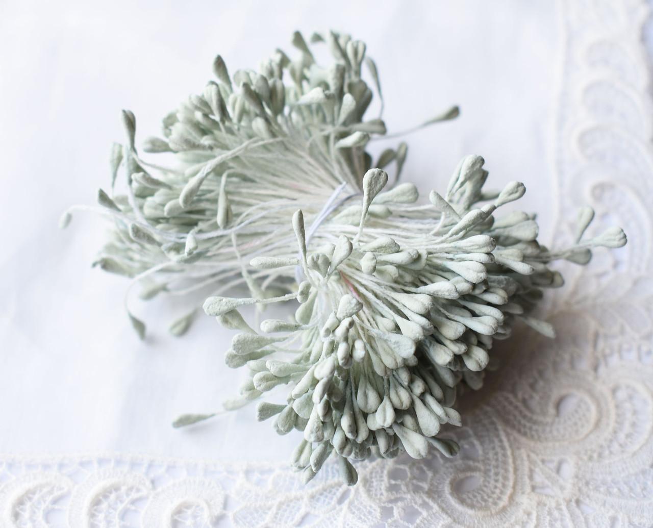 Тычинки для цветов Мятные матовые, 5см, 10 шт