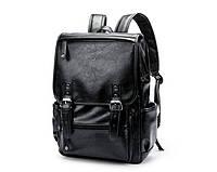 Вместительный черный рюкзак , одно отделение для планшета или ноутбука