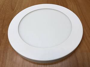 Светодиодный светильник накладной потолочный SL12L 12W 5000K круглый белый Код.59254
