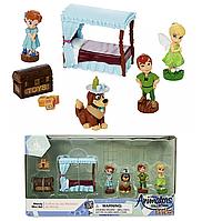 Игровой набор микро фигурок Питер Пен и Динь Динь Дисней Disney Animators' Collection Littles Wendy Mini Set