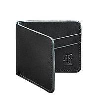 Мужское кожаное портмоне 4.1 (4 кармана) черное