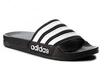 Мужские летние тапки шлепанцы adidas Черные (р.43) (LZ)