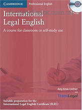 Учебник International Legal English with Audio CDs