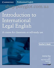 Книга для учителя Introduction to International Legal English Teacher's Book