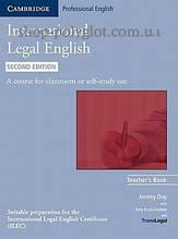 Книга для учителя International Legal English Second Edition Teacher's Book