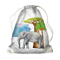 Рюкзак-мешок MINI Слон 26*36 см (DRM_TRO003_WH)