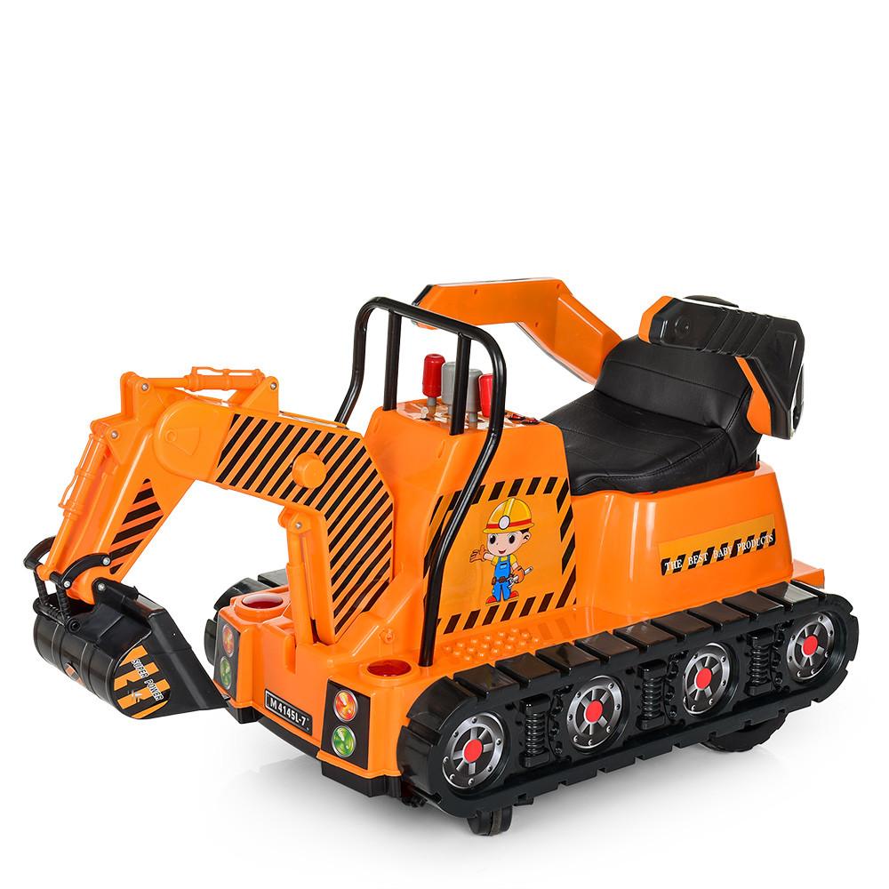 Электромобиль ТРАКТОР Bambi M 4145L-7 Оранжевый