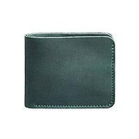 Мужское кожаное портмоне 4.1 (4 кармана) зеленое