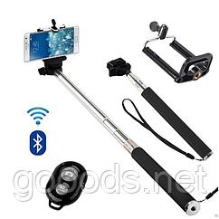 Селфи палка с беспроводным пультом для телефона и GoPro