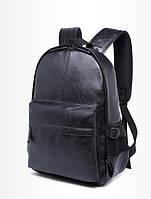 Черный вместительный рюкзак на молнии в черном цвете, рюкзак для студентов и школьников