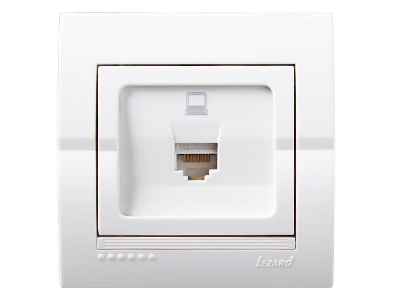 Розетка компьютерная ТМ LEZARD серии Dery белый