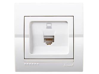Розетка комп'ютерна ТМ LEZARD серії Dery білий
