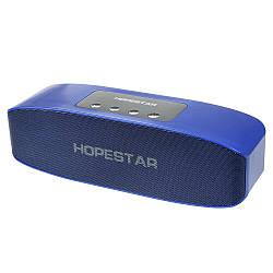 Портативная влагозащищенная стерео колонка Hopestar H11 (Bluetooth, MP3, FM, AUX, Mic) Синий