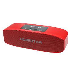 Портативная влагозащищенная стерео колонка Hopestar H11 (Bluetooth, MP3, FM, AUX, Mic) Красный