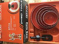 Набор корончатых сверл по дереву/пластику/гипсо-картону 64-127 мм