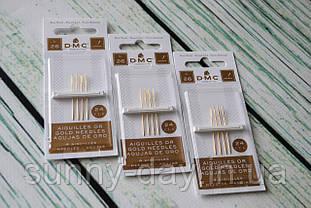 Иглы для вышивки гобеленовые DMC, №26 позолоченные