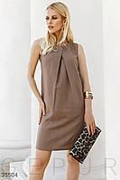 Платье-мини прямого кроя