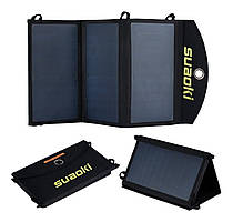 Солнечная панель Suaoki 20 Вт 2 секции, складная, Выход 5В 3,4А. 1 USB