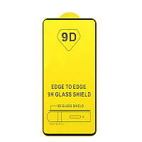 Защитное стекло TDG 9D для Realme X50 / X50m Full Glue черный 0,26 мм в упаковке
