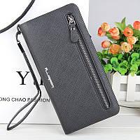 Женский кошелек, портмоне черного цвета из экокожи