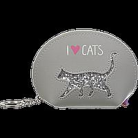 Кейс для монет Zibi Cat lover 12,5 х 8,5 х 4,5 см серый