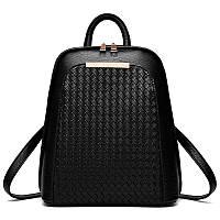 Рюкзак-сумка для женщин черного цвета на змейке