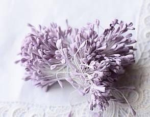 Тычинки для цветов Сиреневые матовые, 5см, 10 шт