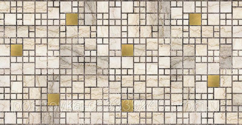 Декоративные Панели ПВХ Мозаика мрамор с золотом