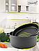 Кастрюля + сковорода-гриль Maestro MR-4128 | сковородка с антипригарным покрытием Маэстро | кастрюля Маестро, фото 3