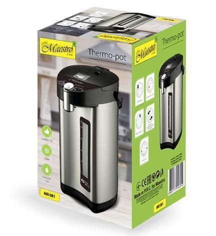 Термопот Maestro MR-081 | электрический чайник Маэстро 4,5 л | электрочайник Маестро | кухонный чайник