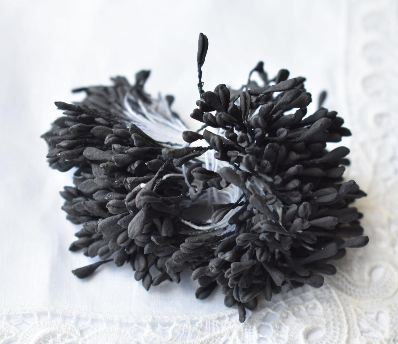 Тычинки для цветов Черные матовые, 5см, 10 шт