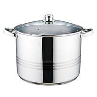 Кастрюля с крышкой из нержавеющей стали Maestro MR-3517-18 (18 л)   набор посуды   кастрюли Маэстро, Маестро