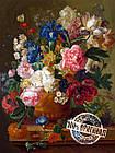 "Картина по номерам ""Натюрморт с цветами"" худ. ван Брюссель Паулюс Теодор (VP092) Турбо 40 х 50 с, фото 2"