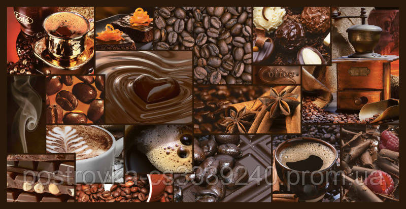 Декоративные Панели ПВХ Мозаика аромат кофе