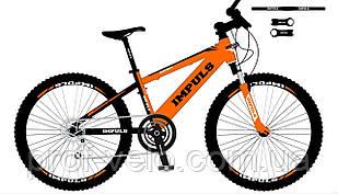 Велосипед спортивний Impuls 24 DIESEL ЧОРНО-ПОМАРАНЧЕВИЙ