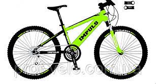 Велосипед спортивний Impuls 24 DIESEL ЧОРНО-САЛАТОВИЙ