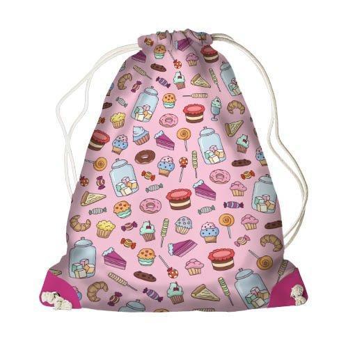 Рюкзак-мешок MINI Вкусняшки 26*36 см (DRM_17M046_ROZ)