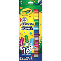 Фломастеры Мини Crayola Pip Squeaks Washable Markers 16 шт 71662087036