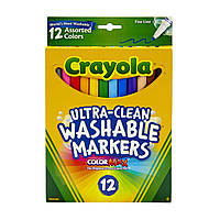 Фломастеры Crayola Смываемые Тонкие линии Washable Fine Line Markers 12 шт Маркеры