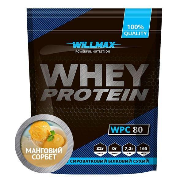 Протеин Willmax WHEY PROTEIN 80% 920г. МАНГОВЫЙ СОРБЕТ