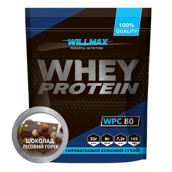 Протеїн Товарwillmax WHEY PROTEIN 80% 920г ШОКОЛАД-ГОРІХ