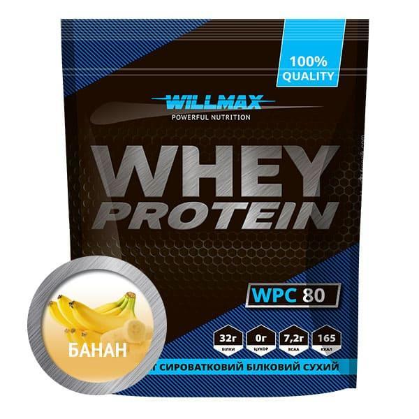 Протеїн Товарwillmax WHEY PROTEIN 80% 920г БАНАН