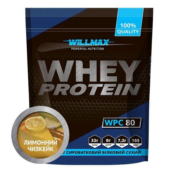 Протеин Willmax WHEY PROTEIN 80% 920г ЛИМОННЫЙ ЧИЗКЕЙК