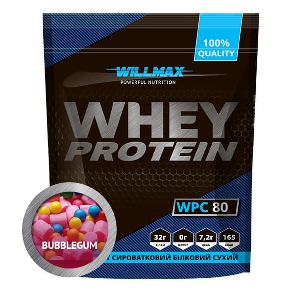 Протеїн Товарwillmax WHEY PROTEIN 80% 920г БАБЛ ГАМ